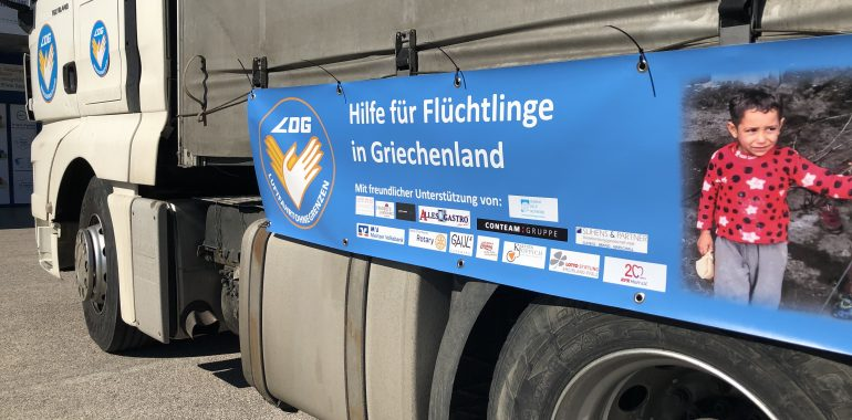 From diapers to 6,000 baby pacifiers: German truck with tools for Greece