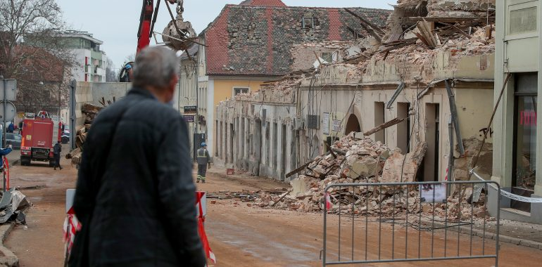 At the beginning of the year, emergency aid for the earthquake victims in Croatia